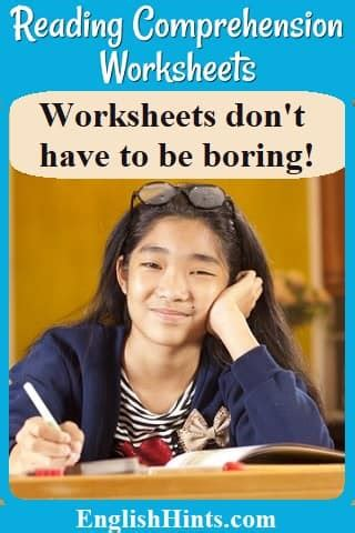 reading comprehension worksheets practice  english