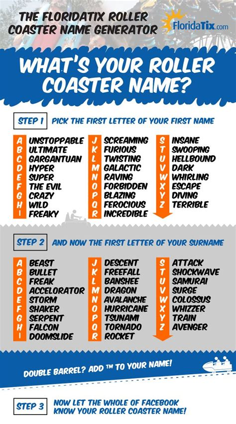 Name Generator The Floridatix Roller Coaster Name Generator What S Your