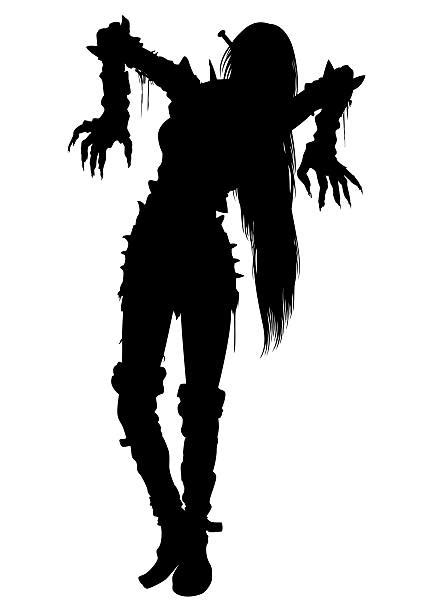 silhouette   goth girls stock  pictures