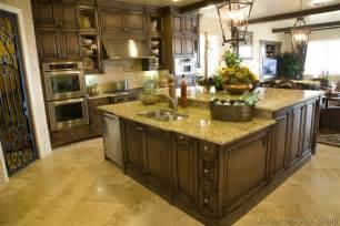 traditional kitchens with islands pictures of kitchens traditional wood kitchens walnut color