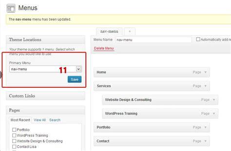 11 Steps To Add A Custom Wordpress Menu  Jensen Websites