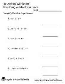 Algebra Tiles Problems Online by Variable Expressions Pre Algebra Worksheet Printable