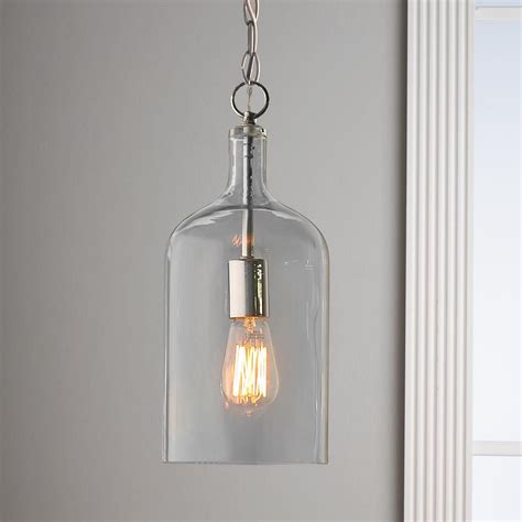 Glass Pendant Lighting by Glass Jug Pendant Light Discover Best Ideas About