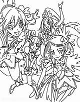 Coloring Pages Force Glitter Precure Dokidoki Doki Colouring Candy Cure Para Anime Pretty Colorir Sheets Drawings Printable Manga Books sketch template