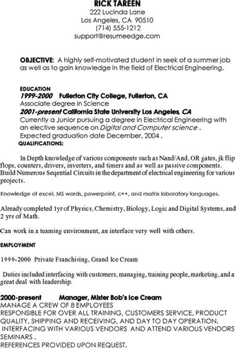 basic marketing resume
