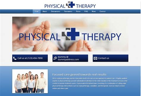 physical therapist templates themes