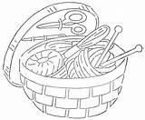 Sewing Embroidery Basket Quilter Things Hand Patterns Tools Quilt Wonderful Many Site Baskets Coloring Website Drawings Line Accessible Dedicated Again sketch template