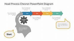 Head Process Chevron Powerpoint Diagram