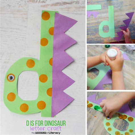 Letter D Craft D Is For Dinosaur  The Letters Of Literacy