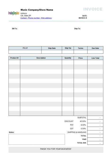 Invoice Template Free Free Editable Invoice Template Invoice Template Ideas