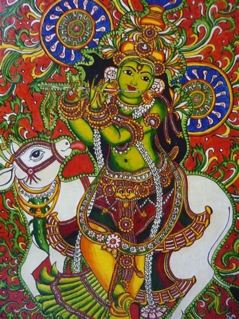 sri krishna mural paintings