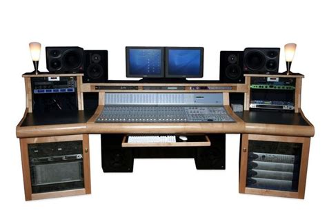 recording studio computer desk a custom recording studio desk that looks like it has