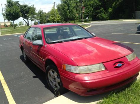 manual cars for sale 1992 ford taurus navigation system buy used 1992 ford taurus sho mtx red manual in lima ohio united states for us 1 200 00