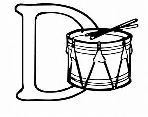 Drum Coloring Page - AZ Coloring Pages