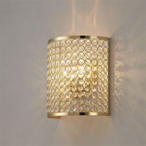 il30759 ava rectangle wall l 2 light french gold crystal