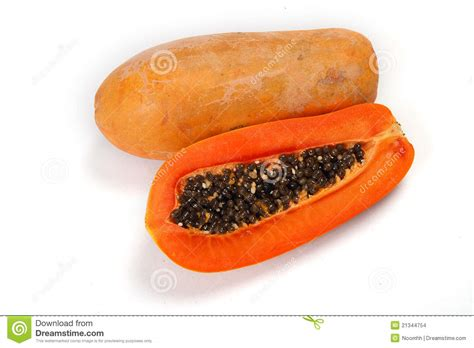 how to cut a papaya cut papaya showing the seeds stock images image 21344754
