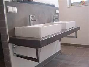 Betonbank Selber Bauen : betonwaschtisch wandbeschichtung mit beton cire waschtischplatte beton beton ~ Markanthonyermac.com Haus und Dekorationen