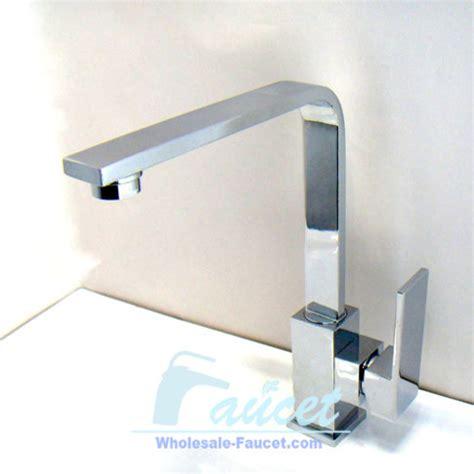 square single handle chrome kitchen faucet contemporary