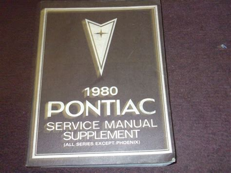 free online car repair manuals download 2001 pontiac aztek electronic valve timing 1980 pontiac firebird trans am grand prix service shop repair manual factory ebay