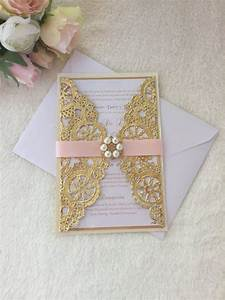 metallic doilies wedding invitation pink and gold doily With wedding invitations using doilies