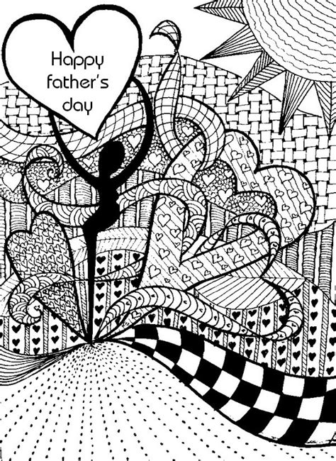 art therapy coloring page fathers day