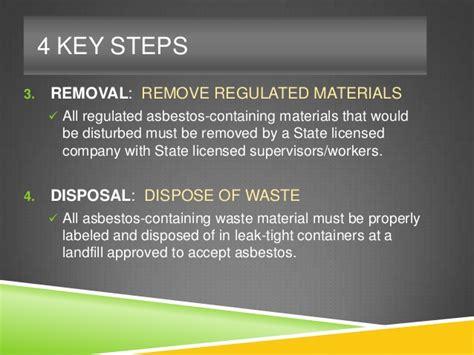 wisconsin asbestos seminar session  steps