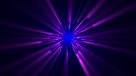 Star Field,blue And Purple Ray Light In Space Stock