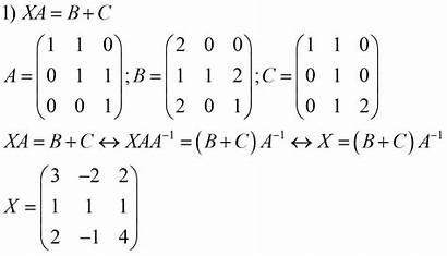Matrix Equations Matrices Examples