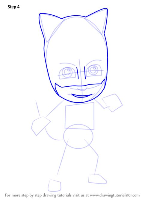 learn   draw catboy  pj masks pj masks step