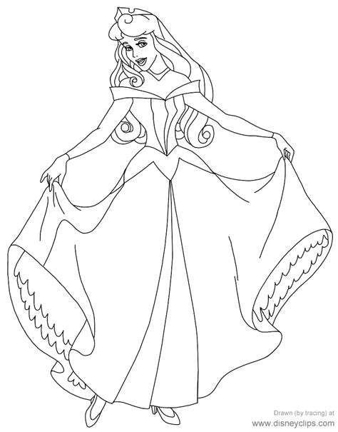Coloring For by Sleeping Coloring Pages Disneyclips
