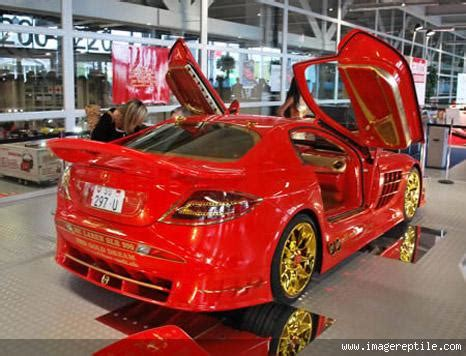 beautiful car in red paint colors