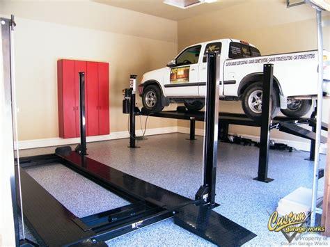 Garage Car Lifts Installed By Custom Garage Works In Fort