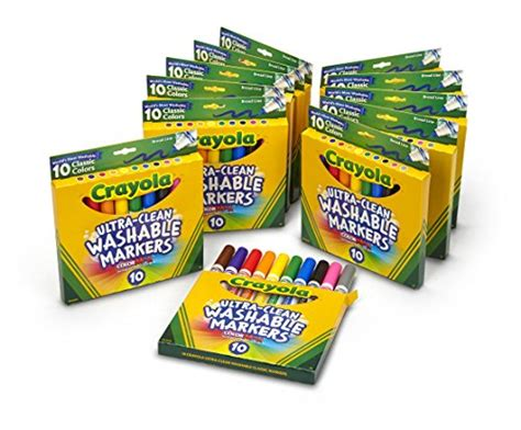 Crayola Ultra-clean Washable Markers, Broad Line, Great
