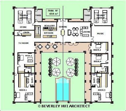 image result   shaped house plans  central