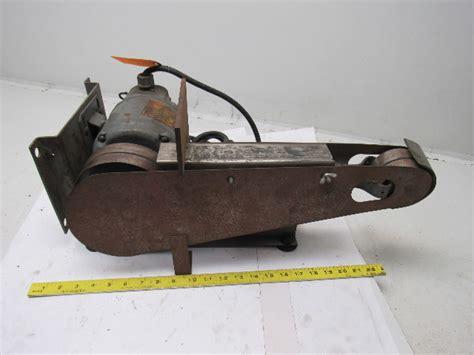 dayton   horizontalvertical bench top belt sander