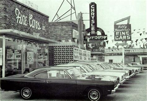 Car Dealership Chrysler Plymouth 1968