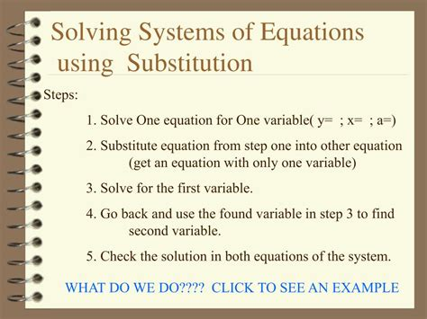 Ppt  Solving Systems Of Equations Using Substitution Powerpoint Presentation Id526045