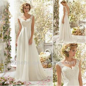 free shipping cy1320 a line cap sleeves appliques With flowing beach wedding dresses