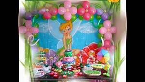 Beautiful Tinkerbell party decorations ideas - YouTube