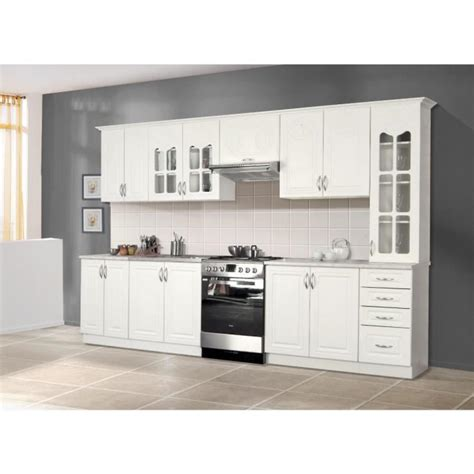 rosa cuisine compl 232 te 3m20 blanc achat vente cuisine complete pas cher couleur et design fr