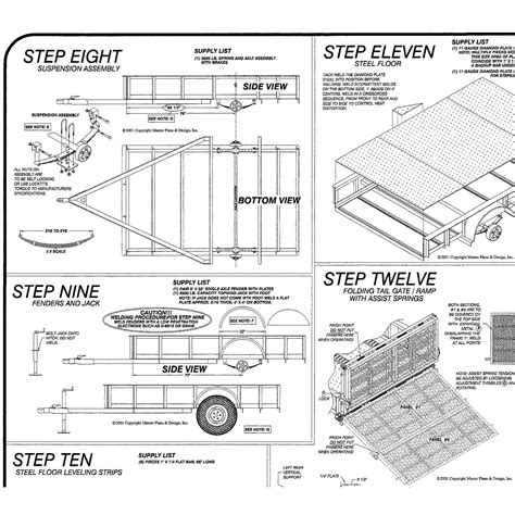 Inside view 6ft x 10ft Motorcycle Utility Trailer Plans Blueprints Model 10CY Master Plans Design?x88201 wiring diagram 10 x 6 enclosed trailer 38 wiring diagram on wiring diagram 10 x 6 enclosed trailer