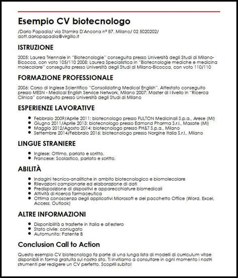 Curriculum Vitae Builder by Curriculum Vitae Inglese Esempio