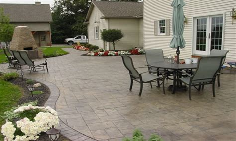 Small Backyard Concrete Patio Designs by Backyard Concrete Patio Designs Flagstone Sted