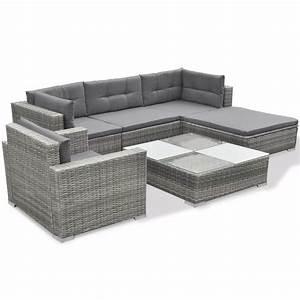 Lounge Set Rattan : vidaxl 17 piece garden sofa set gray poly rattan ~ Whattoseeinmadrid.com Haus und Dekorationen