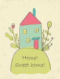 Home Sweet home card stock vector. Illustration of grunge ...