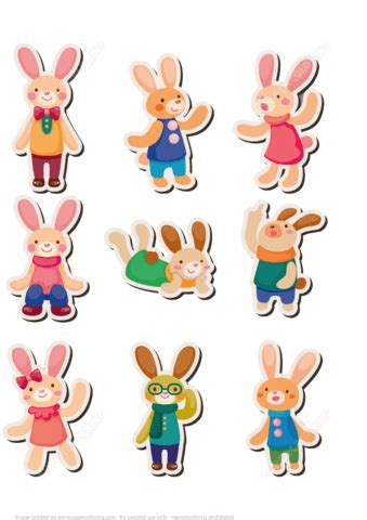 printable rabbit bunny stickers  printable
