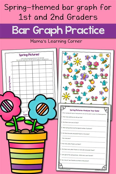 spring picture bar graph worksheets mamas learning corner