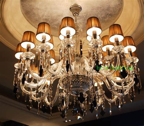 hotel lobby luxury chandelier fabric shade