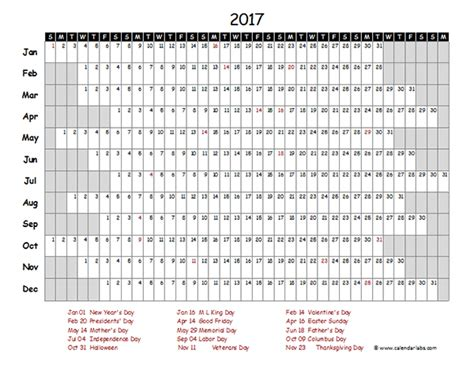 2017 calendar template excel 2017 excel calendar project timeline free printable templates