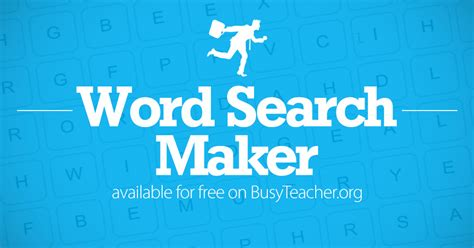 Create A Word Search In Seconds With Our Free Word Search Maker! From 5x5 To 15x15 Grid, Any